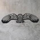 Geometric Barn Owl Wall Art on a Rustic Wall