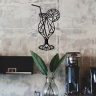 Geometric Steel Cocktail Glass Wall Art in the Home