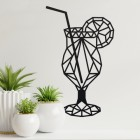 Black Geometric Steel Cocktail Glass Wall Art in the Home