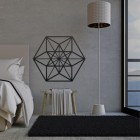 Geometric Cuboctahedron Wall Art in Situ in the Home