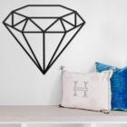 Geometric Diamond Wall Art in Situ