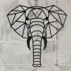 Geometric Elephant Wall Art in Full