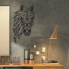 Geometric Horse Head Wall Art in Situ in the Office