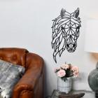 Geometric Horse Head in Black in Situ