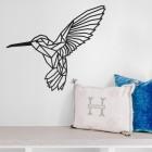 Geometric Steel Hummingbird Wall Art in the Home