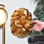 Geometric Lion Head Wall Art to Scale
