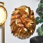 Geometric Lion Head Wall Art in Gold