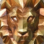 Close-up of the Geometric Lion's Head