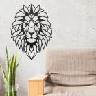 Geometric Lion Steel Wall Art in Situ