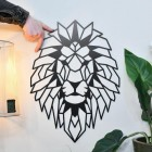 Geometric Lion Steel Wall Art to Scale