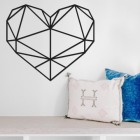 Geometric Love Heart Wall Art