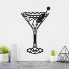 Geometric Steel Martini Glass Wall Art in the Home