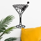 Geometric Martini Glass Wall Art Created out of Steel