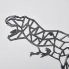 Close-up of the Geometric Design on the T-Rex Wall art