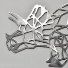 Close-up of the Head of the Geometric Natural Steel Triceratops Wall Art
