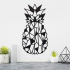 Geometric Steel Pineapple Wall Art on a Cream Wall