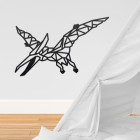 Geometric Iron Pterodactyl Wall Art in Situ in a Children's Play Room