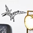 Geometric Iron Pterodactyl Wall Art in Living Room