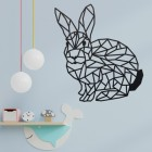 Geometric Rabbit Wall Art in a Child's Bedroom