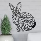 Geometric Rabbit Wall Art in Situ in the Home