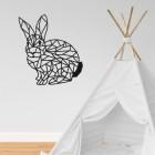 Geometric Rabbit Wall Art in a Child's Playroom