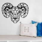 Geometric Steel Ram Wall Art