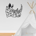 Geometric Rhino Steel Wall Art in the Children's Playroom