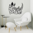 Geometric Rhino Steel Wall Art in a Modern Sitting Room