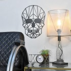 Geometric Skull mounted to wall