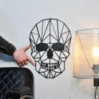 Geometric Skull with male hand for scale