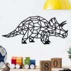Geometric Iron Triceratops Wall Art in Situ