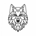 Geometric Iron Wolf Wall Art Finished in Black