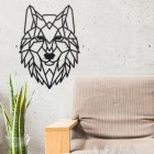 Geometric Iron Wolf Wall Art in Situ