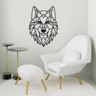 Geometric Iron Wolf Wall Art in Situ in a Sitting Room