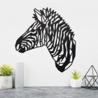 Geometric Zebra Head Wall Art in Situ