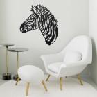 Geometric Zebra Head Wall Art in Situ in a Modern Sitting Room