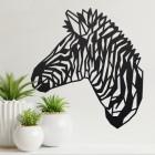 Geometric Zebra Head Wall Art in a Modern Home
