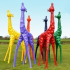 Coloured Giraffe Sculpture