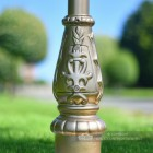 Gold Cast Iron Lamp Post Base