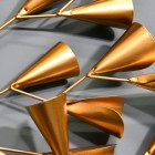 Close-up of the Gold Cone Design