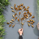 Gold Cone Tree Wall Art to Scale
