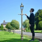 Gold Harrogate Lamp Post 2.25m Scale Shot