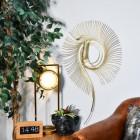Gold Spiral Wall Art in Situ in a Modern Sitting Room