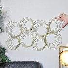 Gold Spiral Wall Art to Scale