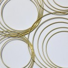 Close-up of the Gold Spiral Wall Art