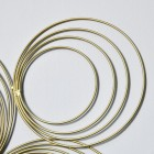 Close-up of the Finish on the Gold Spiral Wall Art