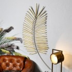 Golden Palm Leaf Wall Art in Use in the Home