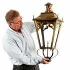 Gothic Style Lantern Finished in Brass