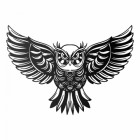 """""""Great Horned Owl"""" Wall Art in a Black Finish"""