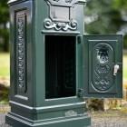 Green Camden Free Standing Post Box With Opening Front Door